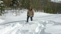 Snowshoeing in 60 cm of powder in Algonquin Park