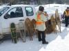 Snowshoe demonstration by park rangers in Algonquin Park