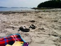 The beach at Birch Point, ME