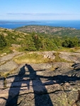 Strange shadows on Cadillac Mountain
