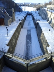 Ottawa - frozen locks on the Rideau