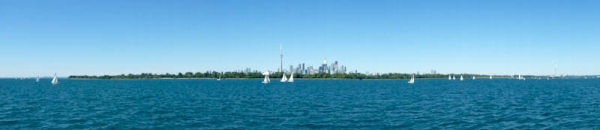 Toronto from across the Islands