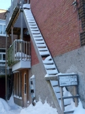 Quebec City - ladder for cats only!