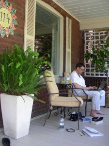 Paul On the Porch at 'Accommodating the Soul'