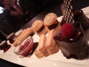 Cafe Maroc cake platter