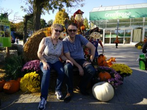Gina & Paul at Toronto Zoo, Thanksgiving