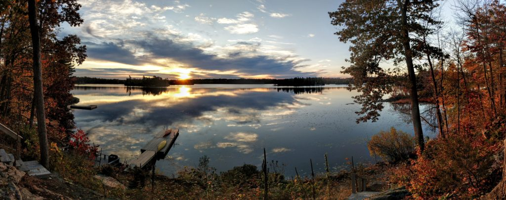 Cranberry Lake in Fall