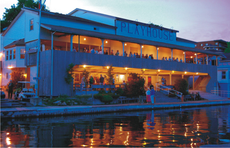 Thousand Islands Playhouse - Springer Theater at dusk