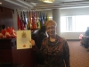 New Citizen! Gina at the Ceremony, having just been presented with her Citizenship Certificate