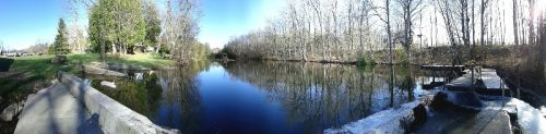 Walters Falls - Panoramic of the Mill Pond