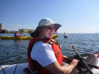 Paddling out of Rockland Harbour