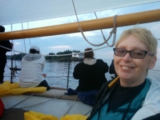 On board Schooner Heron