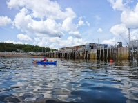 Paddling into Owls Head Harbour