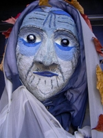Blue-faced Crone