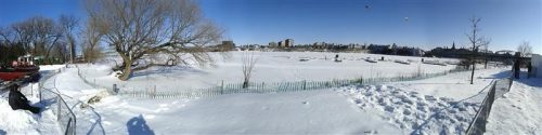 Ottawa: looking across the river to Parliament Hill (Panoramic)