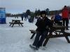 Skating the Rideau - hot chocolate break