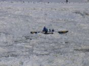 Quebec City - ice canoe
