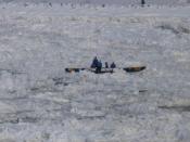 Quebec City - ice canoe