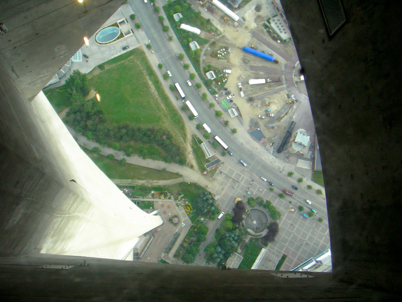 CN Tower - looking down