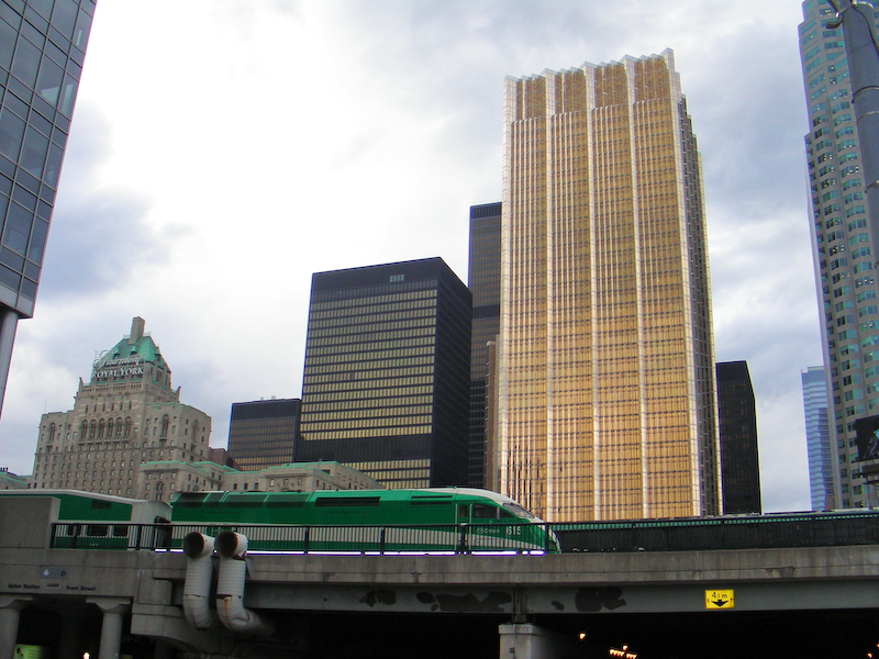 Downtown Toronto and Go Train