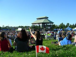 Canada Day crowd at Woodbine Park