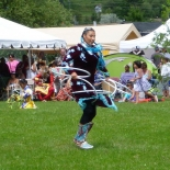 Wikwemikong Cultural Pow-Wow - Lisa Odjig, a famous hoop dancer
