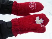 Olympic Red Mittens
