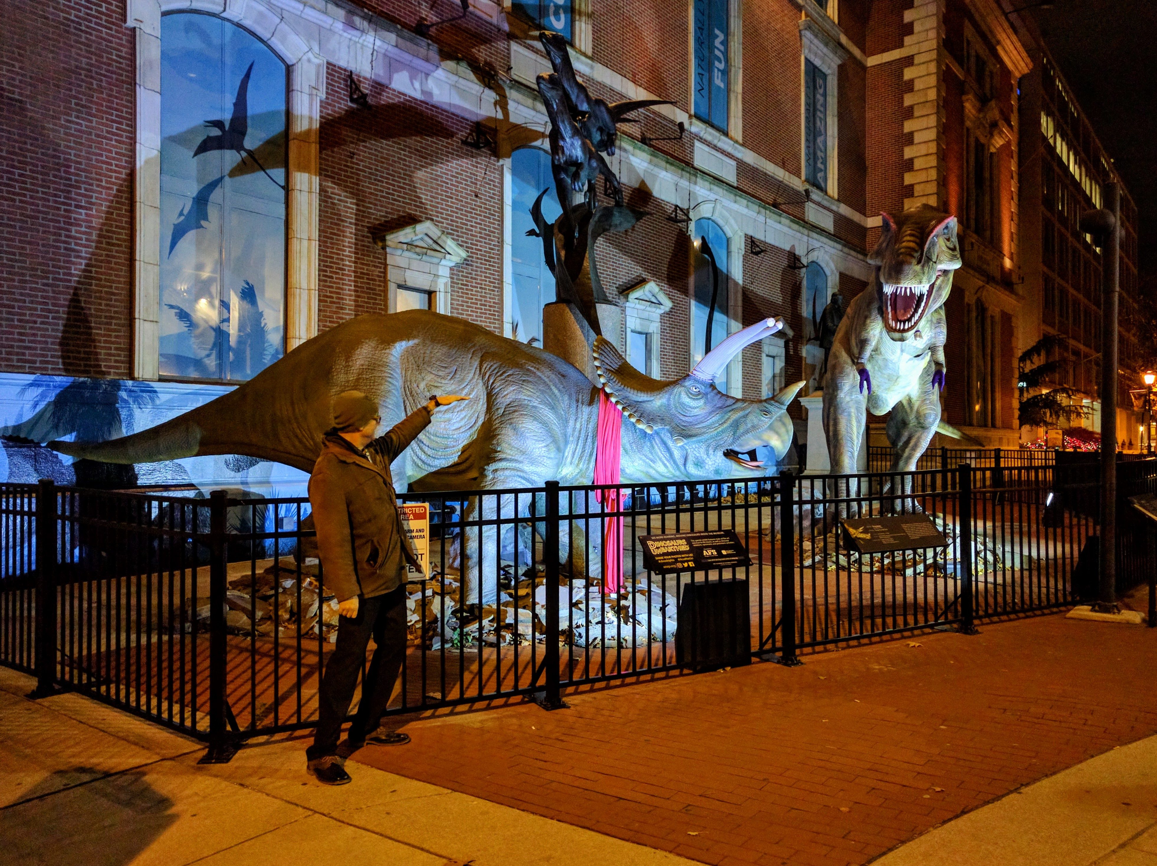 Partying with dinosaurs at the Academy of Natural Sciences