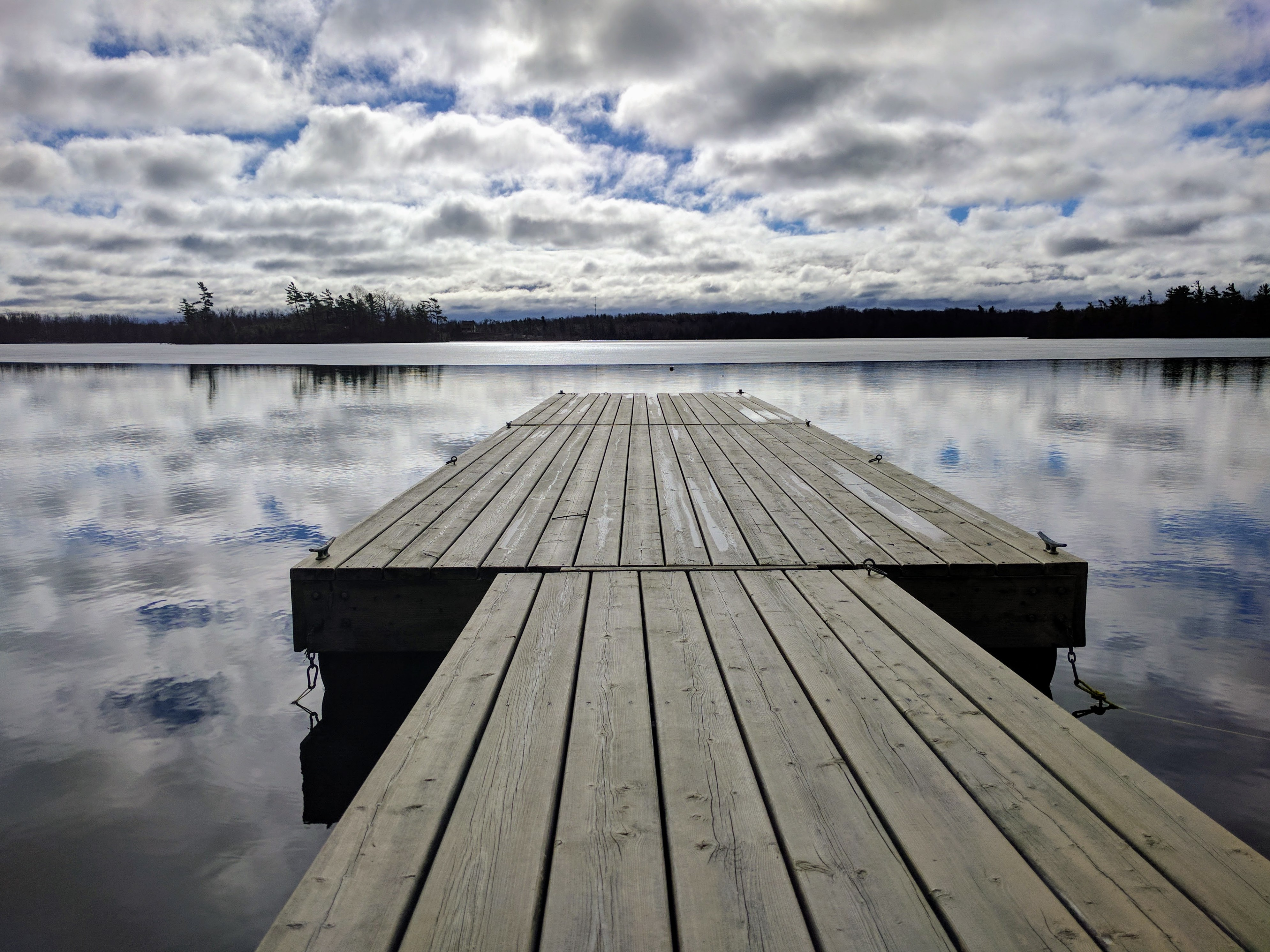Looking along the dock