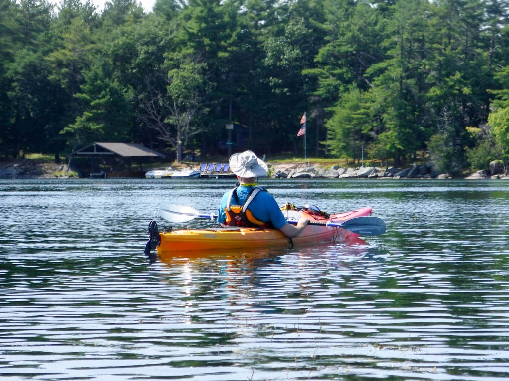 Kayaking on Loughborough Lake