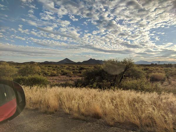 Heading into the high desert near Tombstone