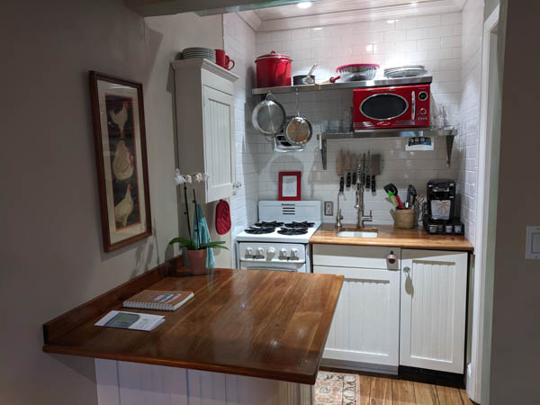 Compact kitchen in our Encanto Studio