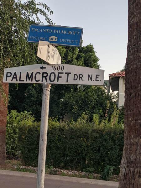 Encanto-Palmcroft sign