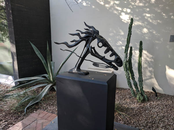 Sculpture garden at the Heard