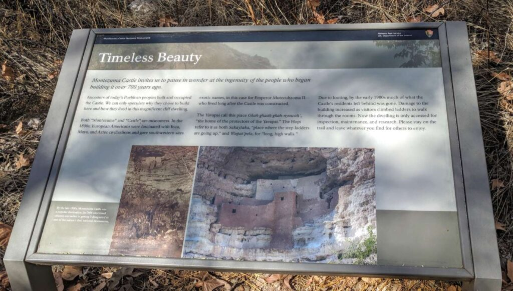 Montezuma Castle - Information Board