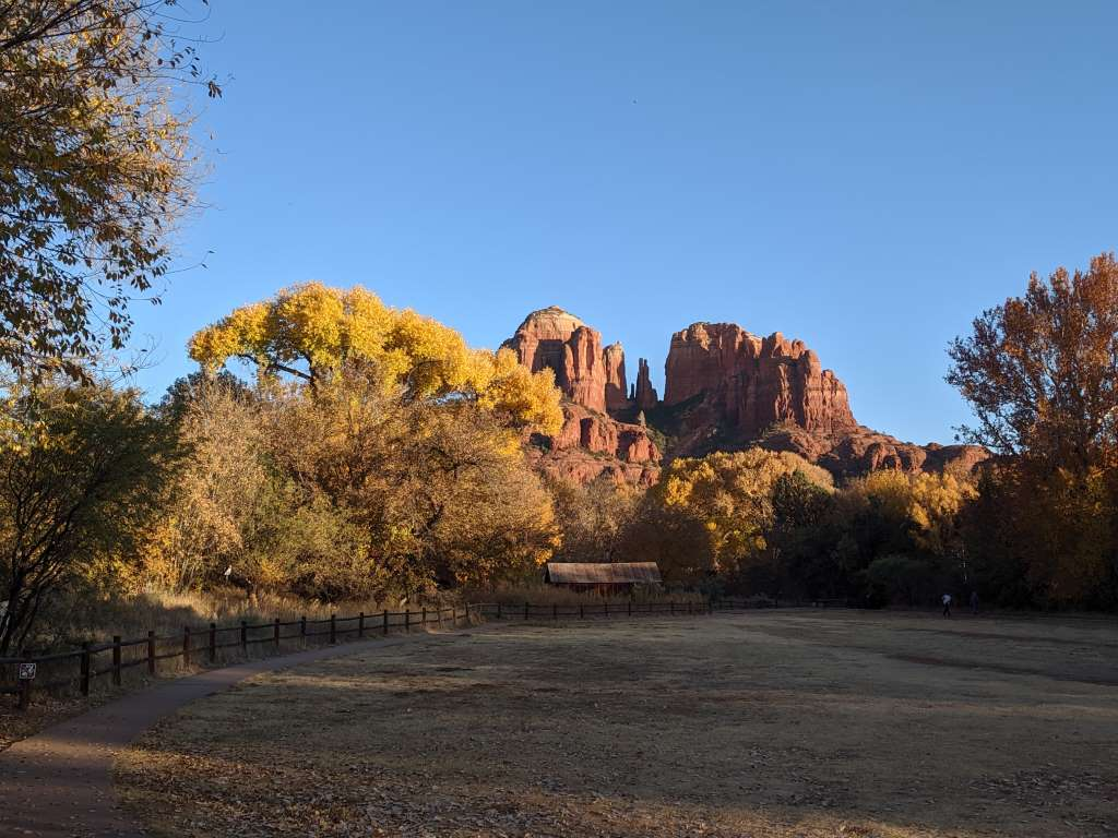 Cathedral Rocks from Crescent Moon, Sedona