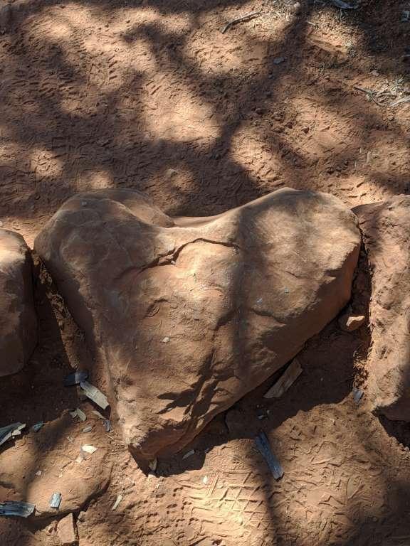 Heart Stone near the Seven Sacred Pools, Sedona