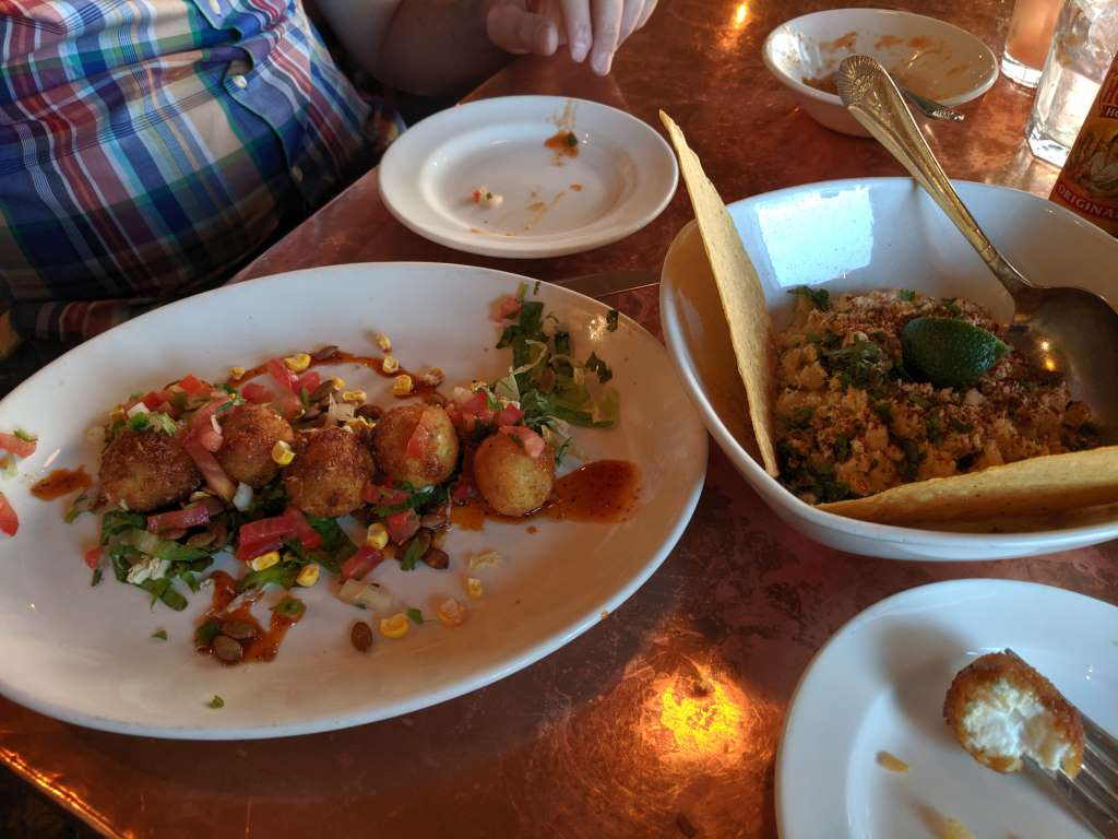 Goat Cheese Balls and Elote (at Elote Cafe)