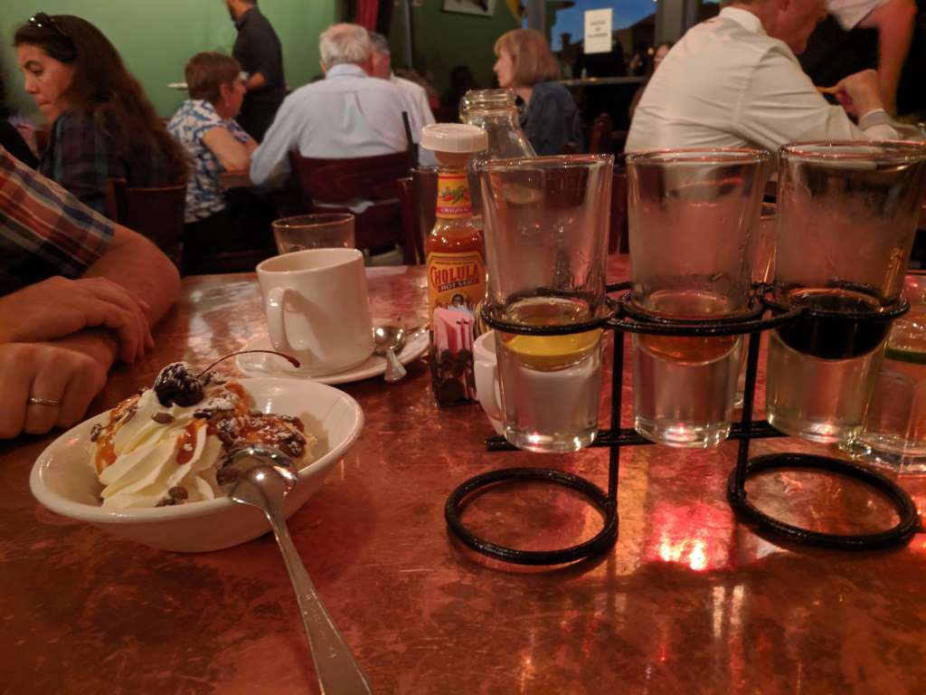 Desert and Tequila Tasting Flight (at Elote Cafe)