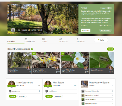 My project page on i-naturalist